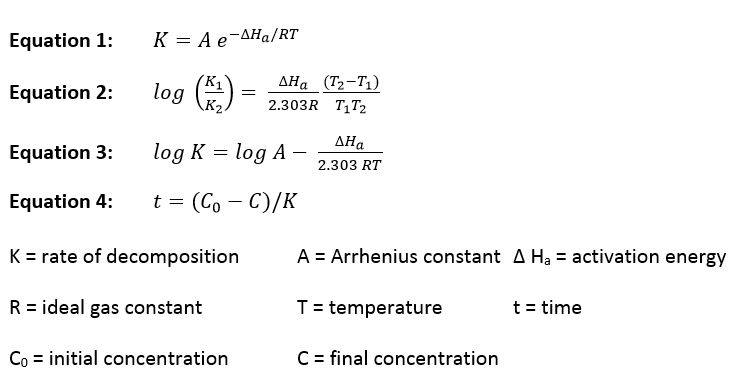 equations arrhenius